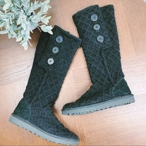 UGG Classic Knit Black Boots